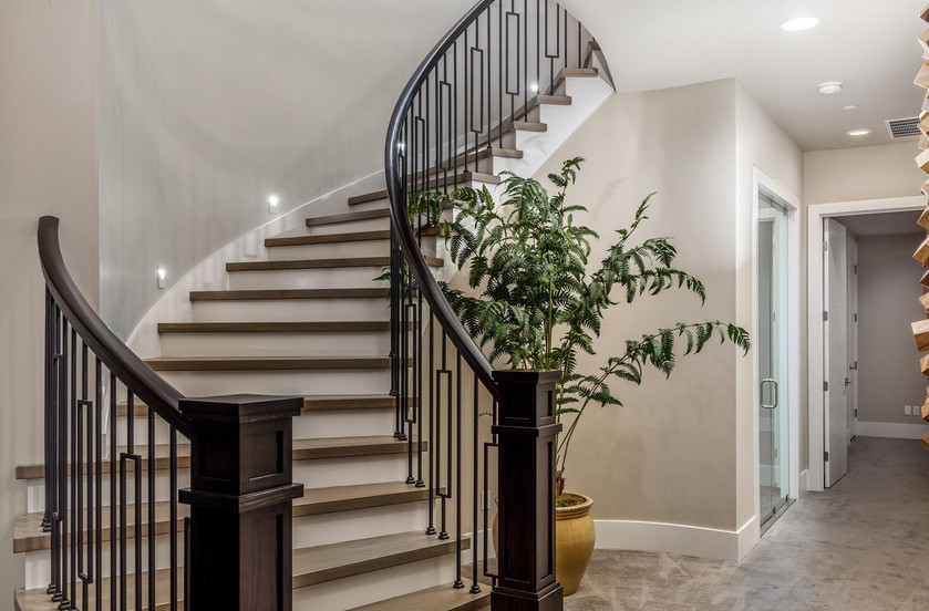 Past New Construction Stairs to Basement
