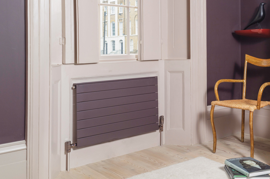 02-decorative-panel-radiator-colour-matched-to-farrow-and-ball-mahogany-in-living-room