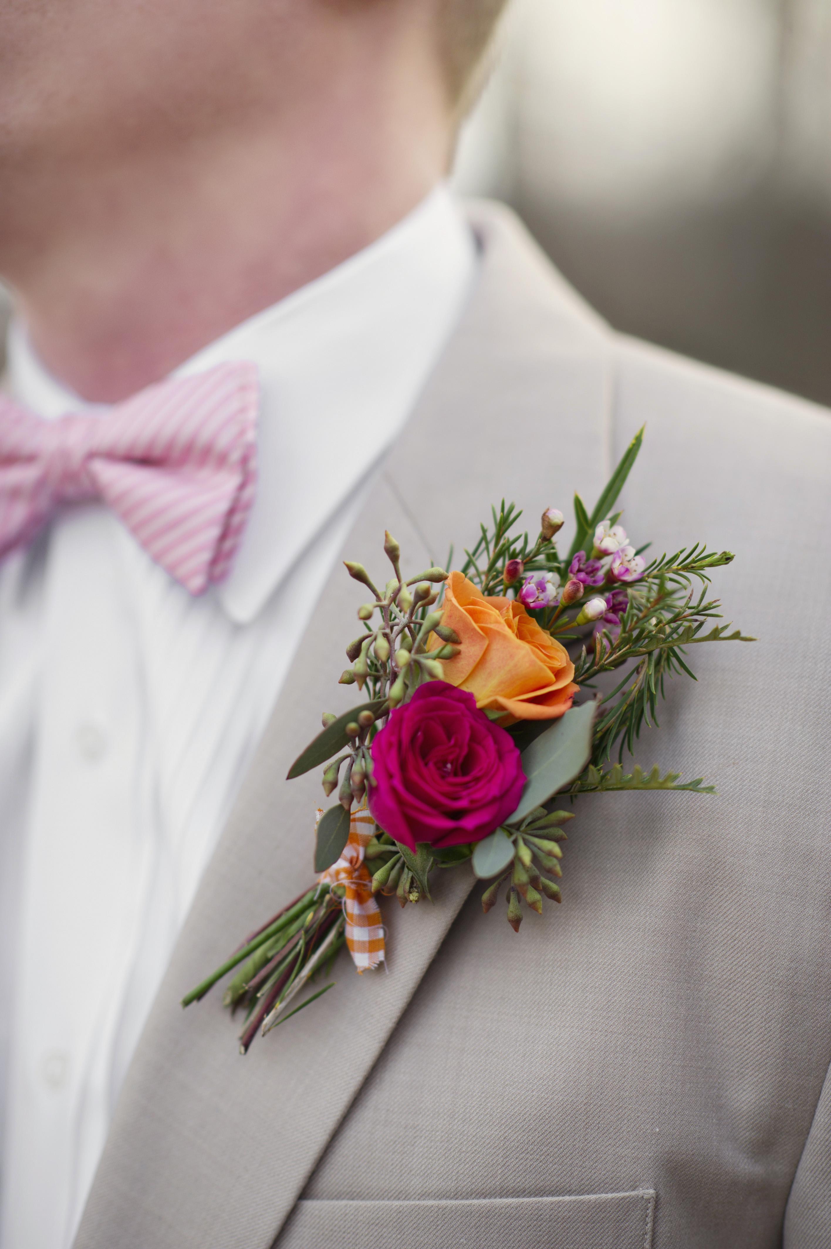 Bouttoniere boda panama