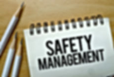 Safety Management text written on a note