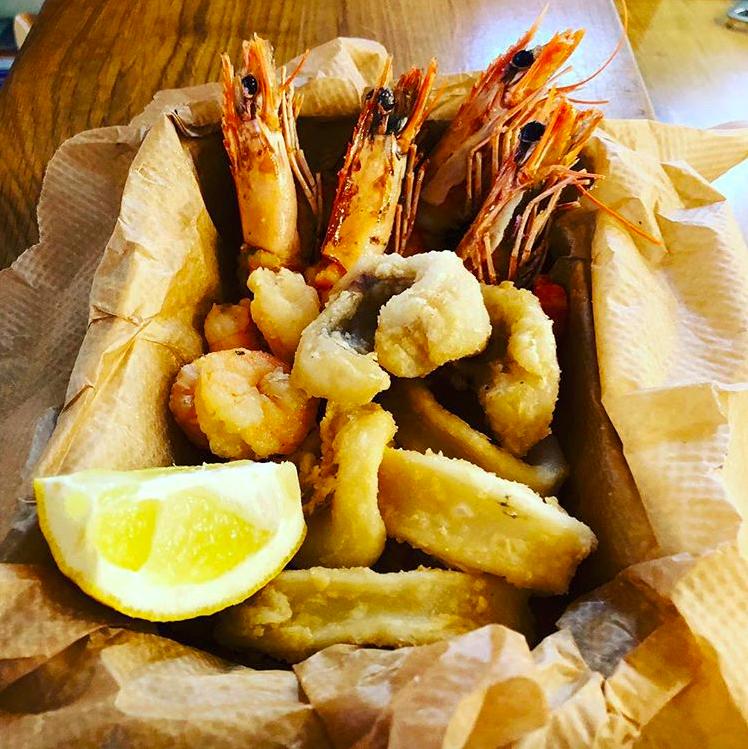 Fischgericht Restaurant La Rosa Da Carlo