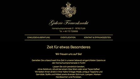 Website Galerie Frauenknecht Joshua Roloff