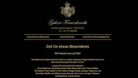 Webdesigncreation Galerie Frauenknecht