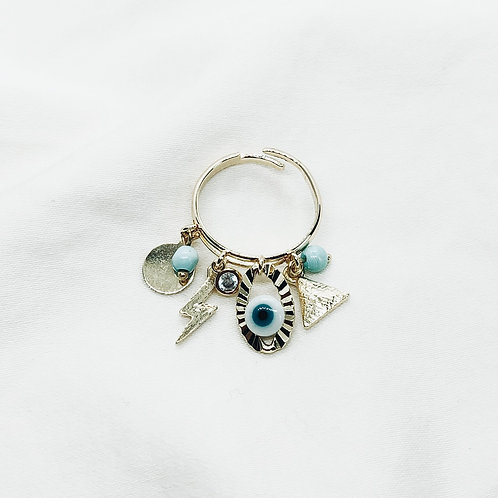 Anillo Blue Charms