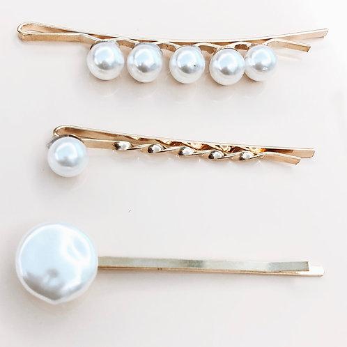 Hairclips Pearls