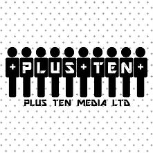 Plus Ten Media LTD. Black on Grey Pluses