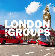 London For Groups. White on Background.