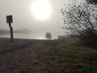 Crappies in the fog and winds