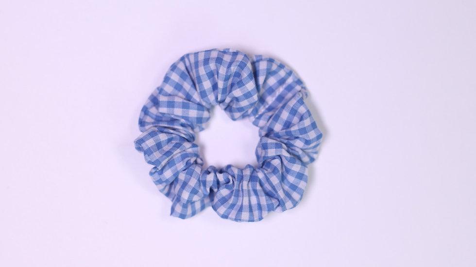Blue Gingham Scrunchie