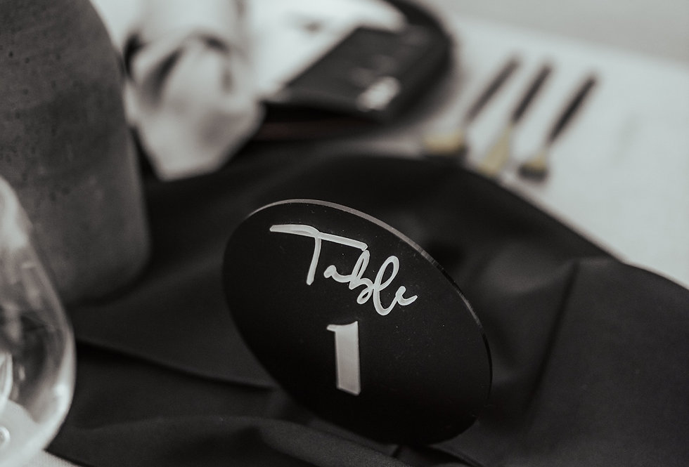 Hire | 3D luxe table number