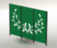 Fandangles 3-panel Vine screen
