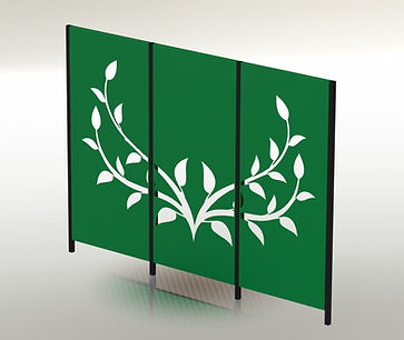 Fandangles 3-panel Vine screen