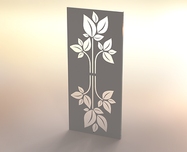 Fandangles Mirrored Leaf Screen Design