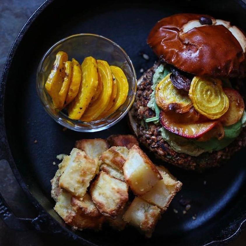 Best EVER Black Bean Burgers! with The Korean Vegan