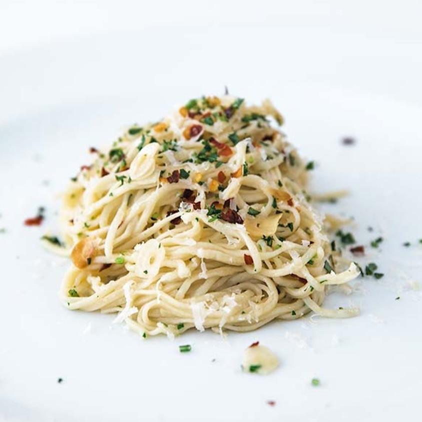 Homemade Spaghetti Aglio E Olio with Chef Billy Parisi