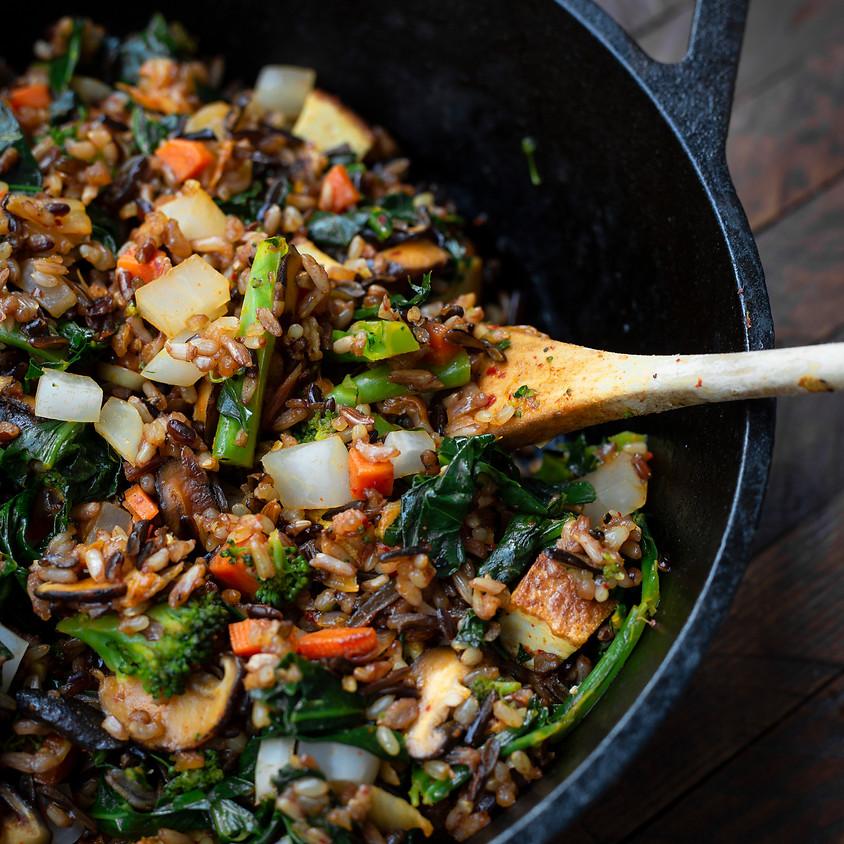 Kimchi Fried Rice + Soondooboo Chigae with The Korean Vegan