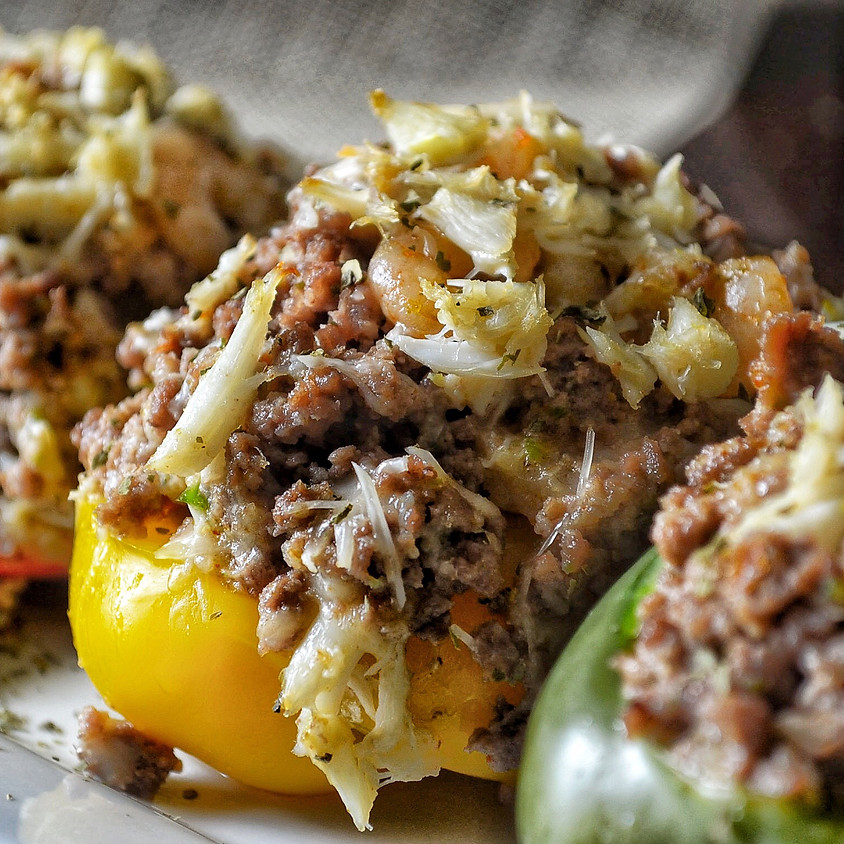 Seafood Stuffed Bell Peppers with Coop Can Cook