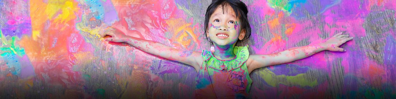 girl on coloured background