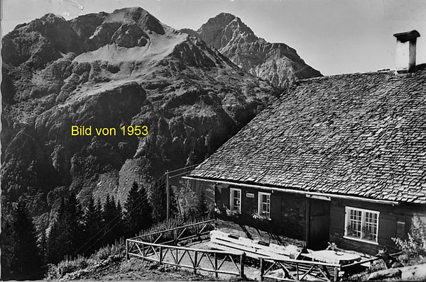Stutzalpe 1953 mit Bärenkopf