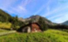 Hütte im Bärgunttal