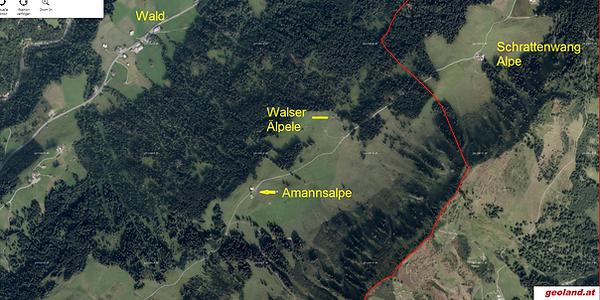 Amannalpe aktuelle Karte