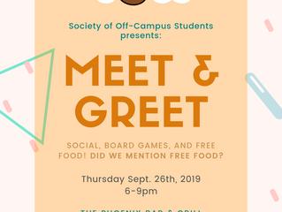 Meet & Greet: SOCS Event