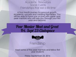 Peer Mentor Meet and Greet