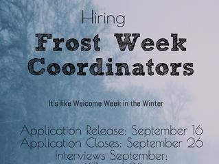 SOCS Frost Week Coordinator Application