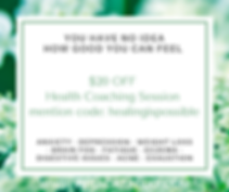 $20 OFF Health Coaching Session Feel Bet