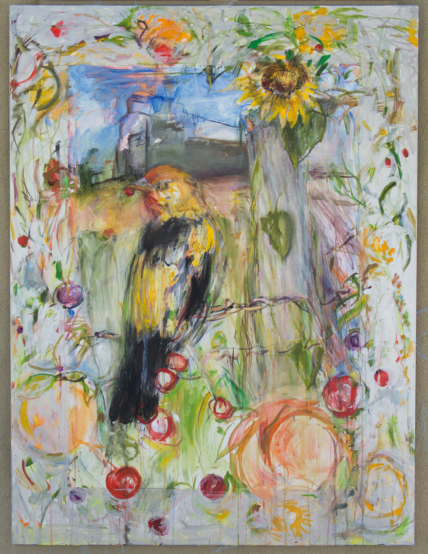 western tanager (with our lady of light)