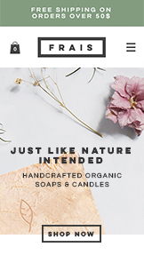 Online Store website templates – Natural Soap and Candle Store