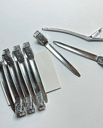 Aluminium Hair Sectioning Clips  ( 10 Per Pack )