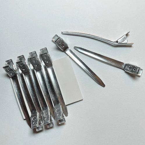 Aluminium Hair Sectioning Clips  ( 10 Per Pack )