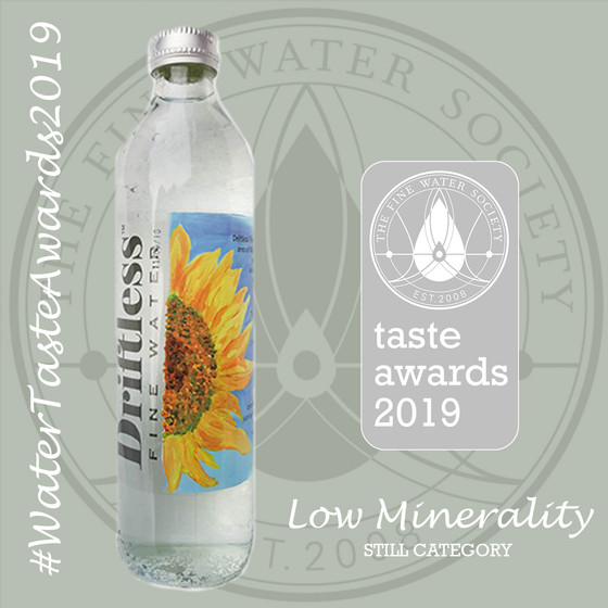 Driftless® Fine Water Awarded Silver for taste at International Natural Water Competition