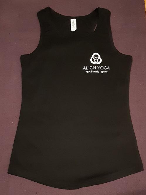 Align Yoga 'Mind Body Spirit' Sports Vest Top - Black