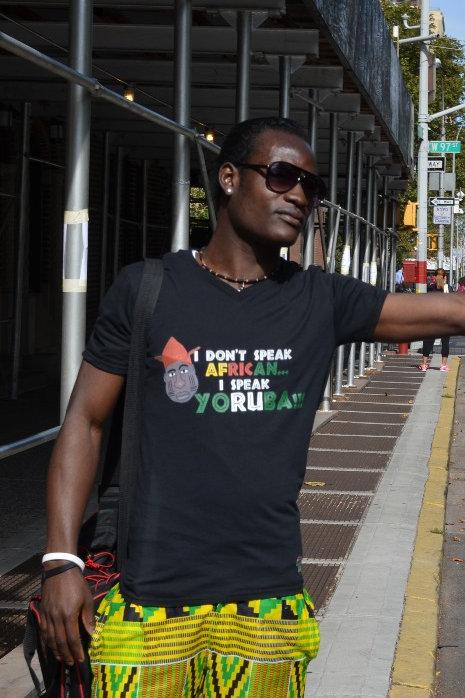 I Don't Speak African...I Speak Yoruba!!! (Graphic Unisex V-Neck)
