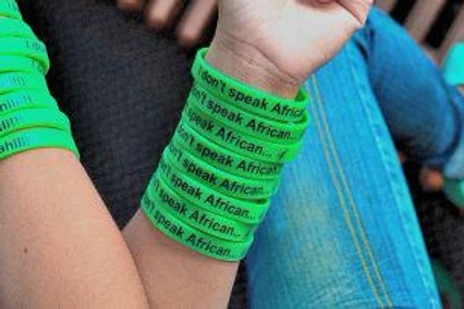 I Don't Speak African...I Speak Swahili!!! (Wristband)