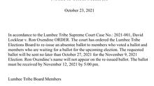 Elections Board Notice