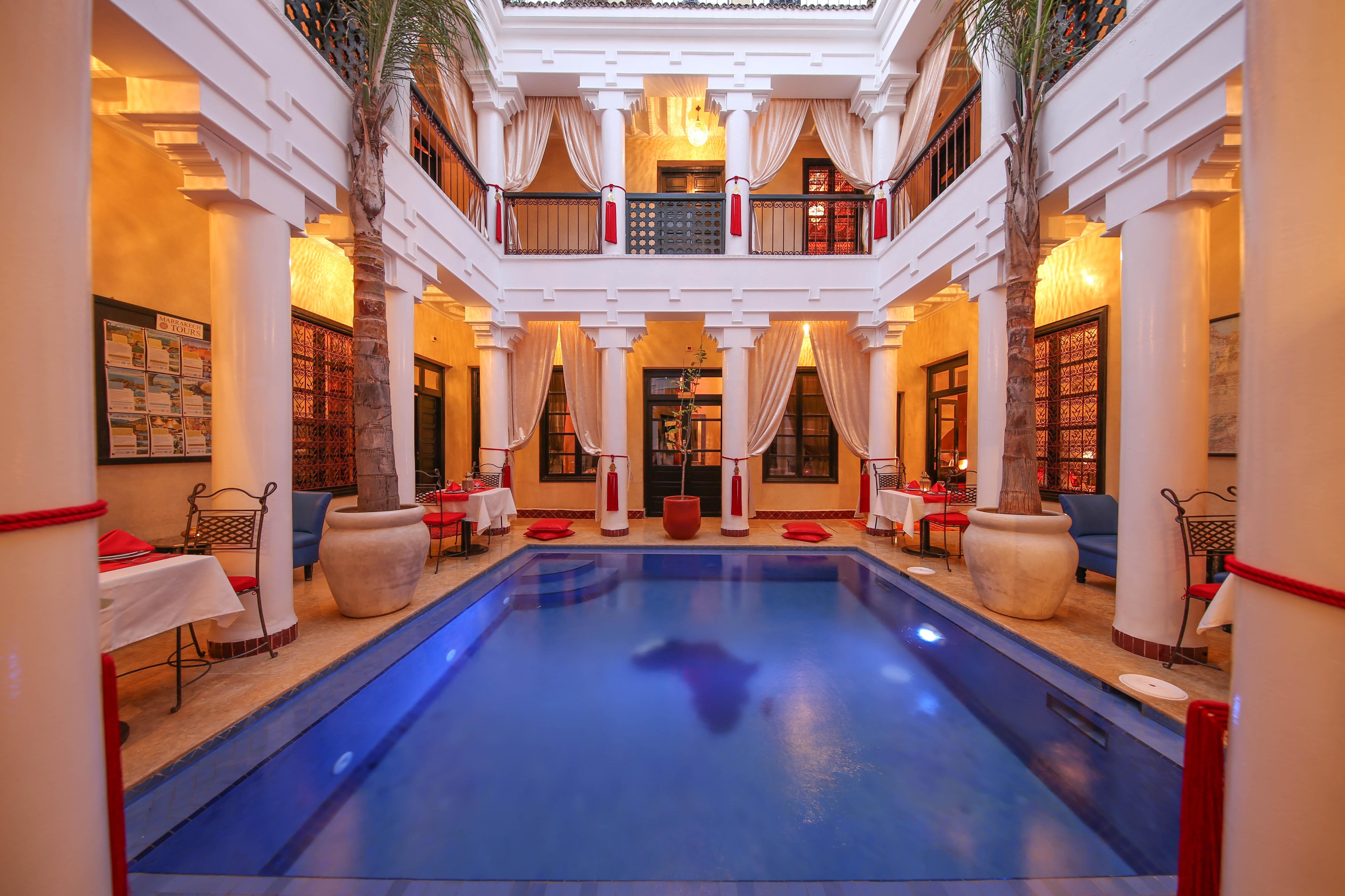 Riad Africa - Main Pool & Atrium (1)