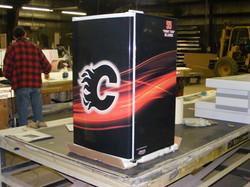 calgary flames fan fridge