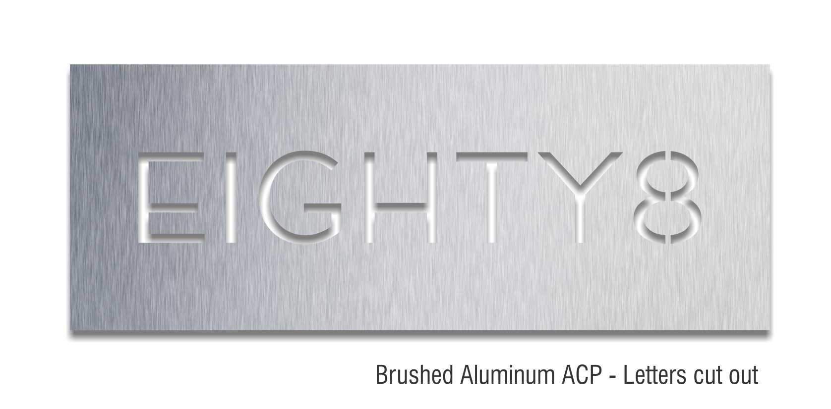 brushed aluminum ACP panel