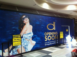 Hoarding at Shoppers Mall