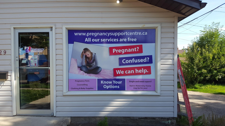 Crisis Pregnancy Centre window