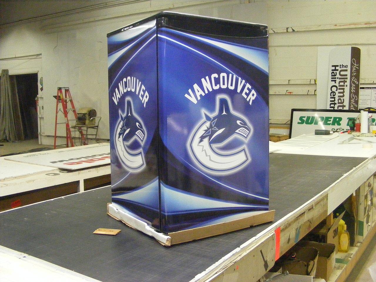 Vancouver Canucks Fridge Wrap