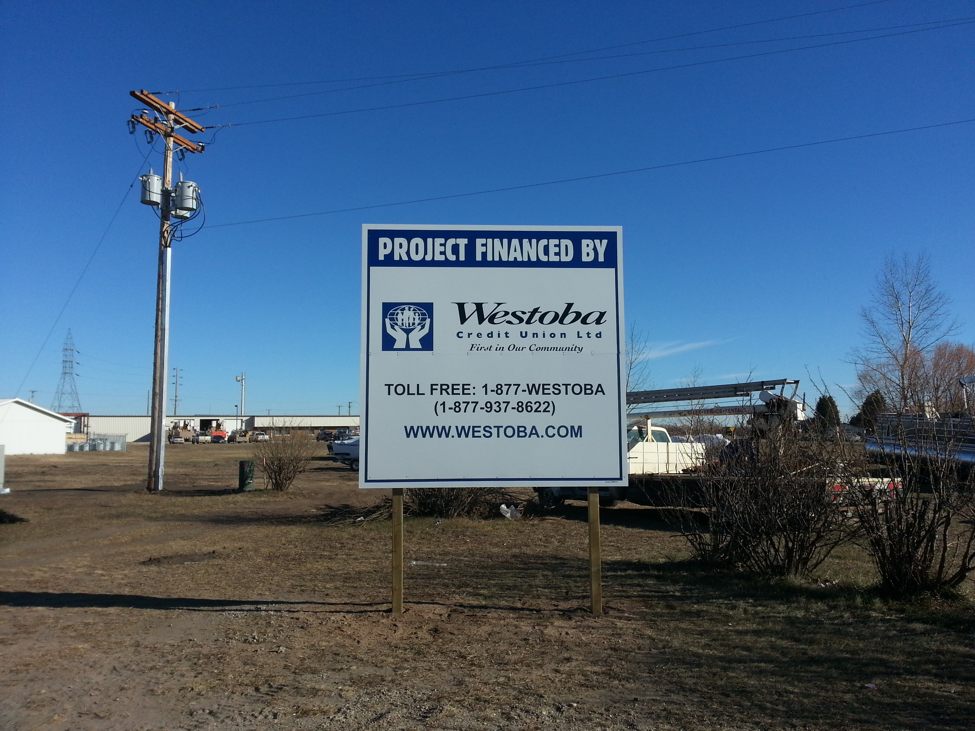 westoba credit union site sign