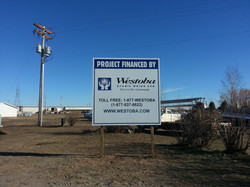 westoba credit union site sign