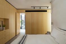 Dormitorio minimalista - Vestidor y Paneles Divisores