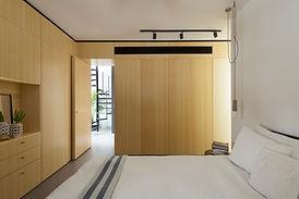minimalistyczne Sypialnia