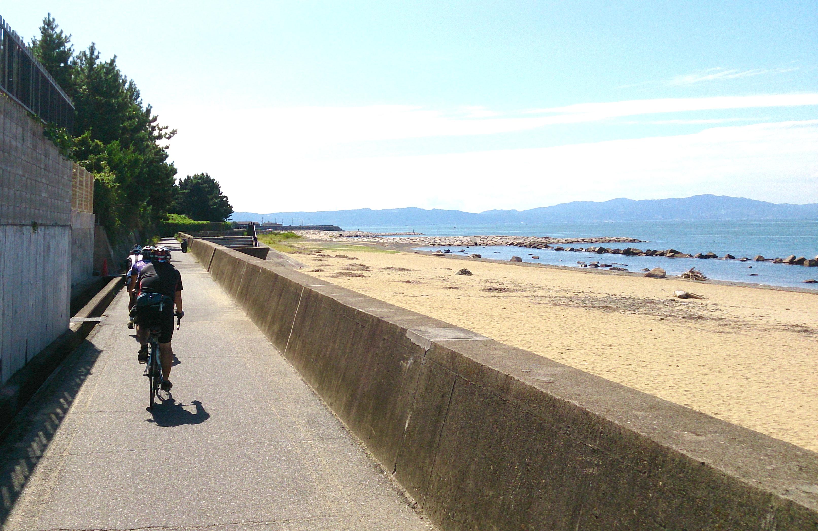 明石 海 浜の散歩道 ロードバイク