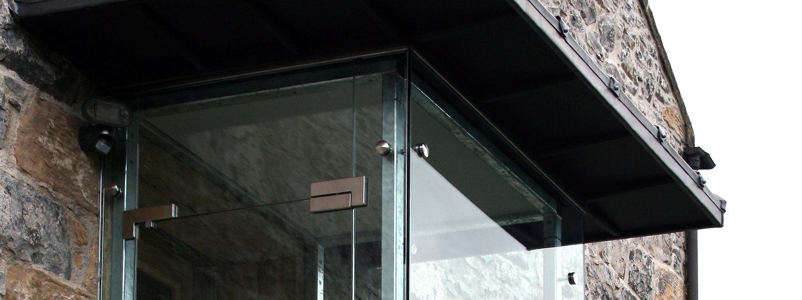 glass porch bespoke icdp architects design steel Scottish UK Architects ICDP